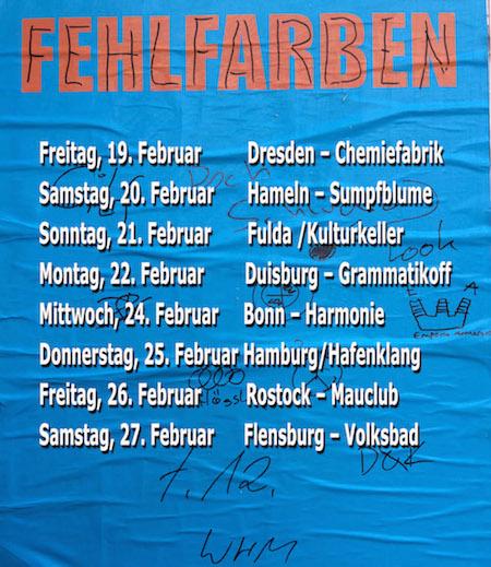 Fehlfarben Februar-Tour 2016